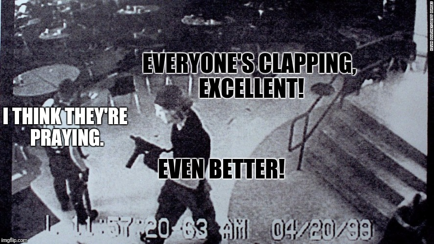 EVERYONE'S CLAPPING, EXCELLENT! I THINK THEY'RE PRAYING. EVEN BETTER! | made w/ Imgflip meme maker
