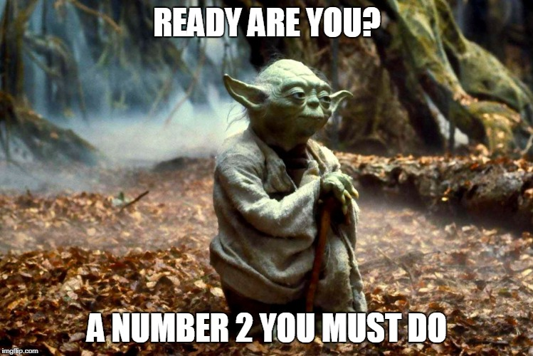 Yoda Poop | READY ARE YOU? A NUMBER 2 YOU MUST DO | image tagged in yoda,poop,star wars,toilet,number 2 | made w/ Imgflip meme maker