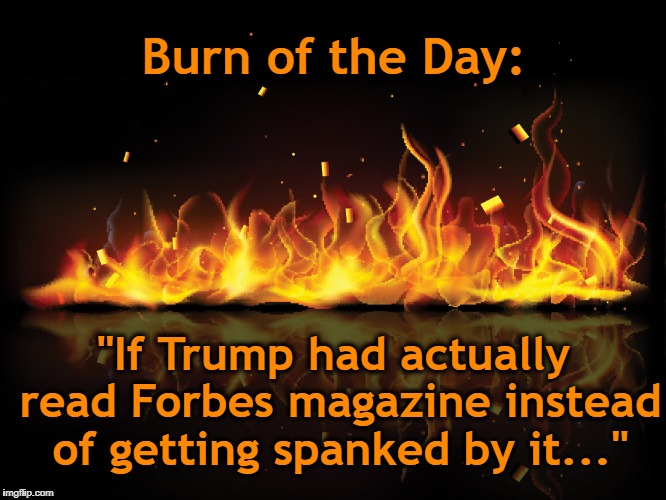 "Fire, Steel, Forbes and Spanking | Burn of the Day: ""If Trump had actually read Forbes magazine instead of getting spanked by it..."" 