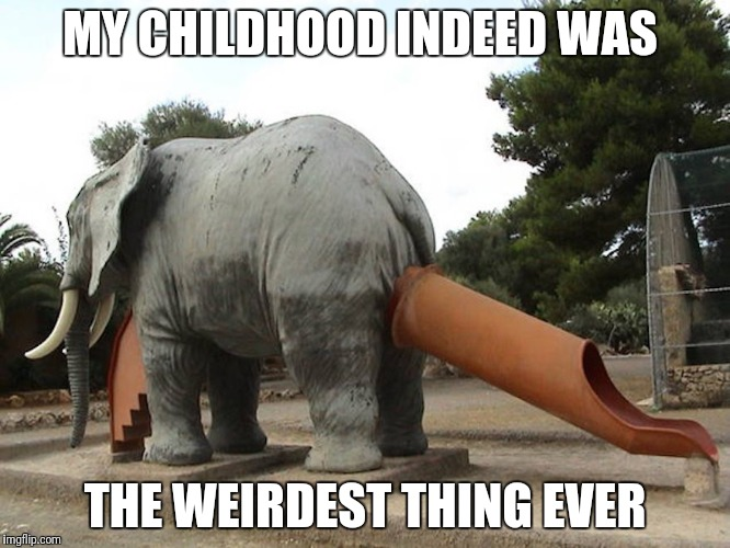 Weeeeeee! | MY CHILDHOOD INDEED WAS THE WEIRDEST THING EVER | image tagged in right in the childhood,childhood,childhood ruined,park,playground,weird | made w/ Imgflip meme maker