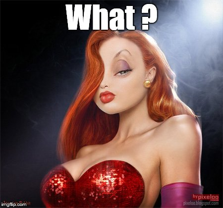 Jessica Clinton | What ? | image tagged in jessica clinton | made w/ Imgflip meme maker