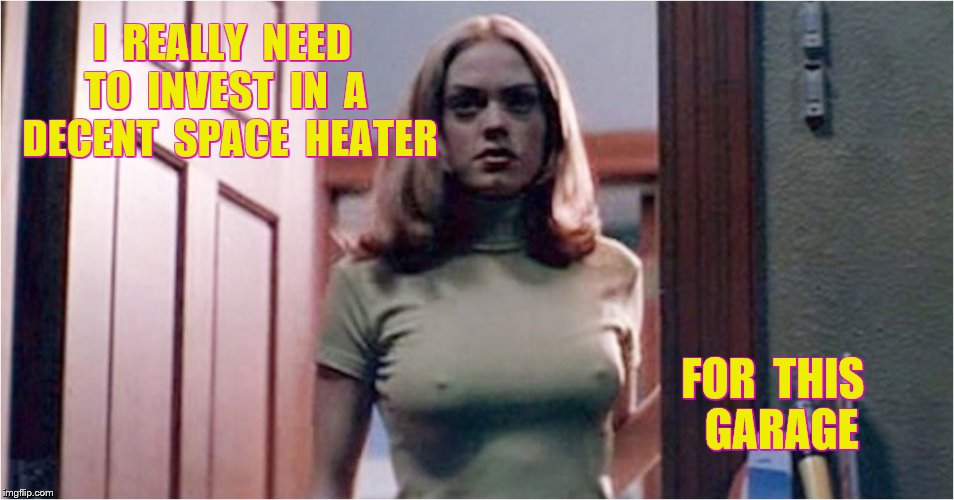I  REALLY  NEED  TO  INVEST  IN  A  DECENT  SPACE  HEATER FOR  THIS  GARAGE | made w/ Imgflip meme maker