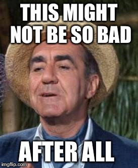 Thurston Howell the 3rd | THIS MIGHT NOT BE SO BAD AFTER ALL | image tagged in thurston howell the 3rd | made w/ Imgflip meme maker
