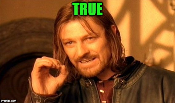 One Does Not Simply Meme | TRUE | image tagged in memes,one does not simply | made w/ Imgflip meme maker