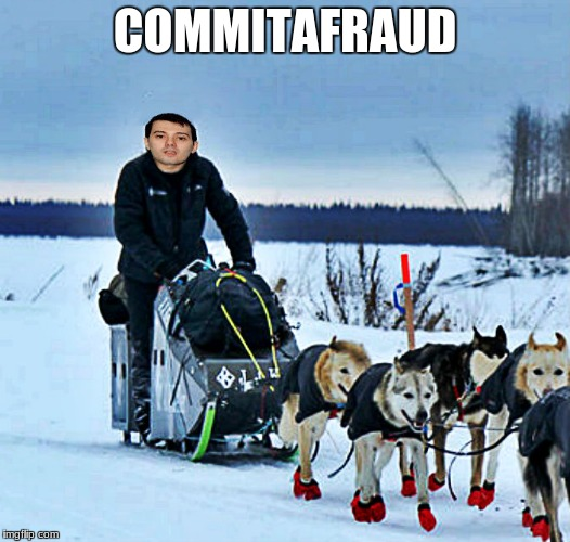 iditarod.. | COMMITAFRAUD | image tagged in photoshop | made w/ Imgflip meme maker