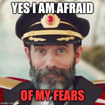 captain obvious | YES I AM AFRAID OF MY FEARS | image tagged in captain obvious,fear,memes,obvious,afraid | made w/ Imgflip meme maker
