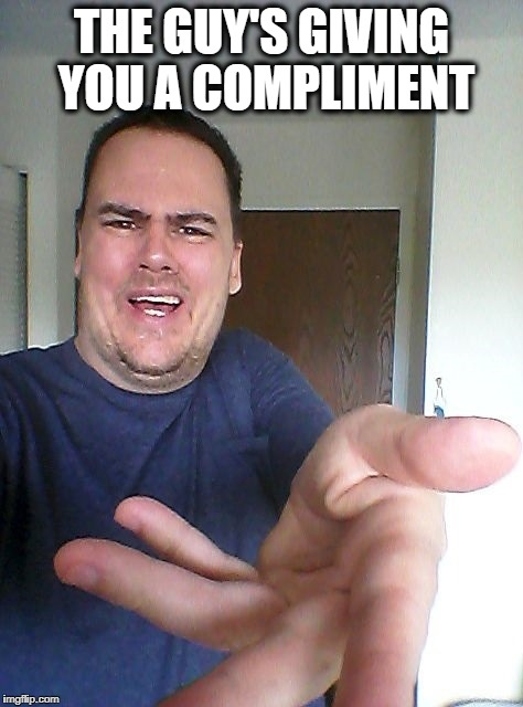 wow! | THE GUY'S GIVING YOU A COMPLIMENT | image tagged in wow | made w/ Imgflip meme maker