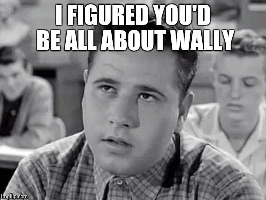 I FIGURED YOU'D BE ALL ABOUT WALLY | made w/ Imgflip meme maker