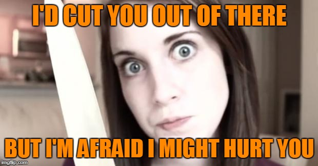 I'D CUT YOU OUT OF THERE BUT I'M AFRAID I MIGHT HURT YOU | made w/ Imgflip meme maker