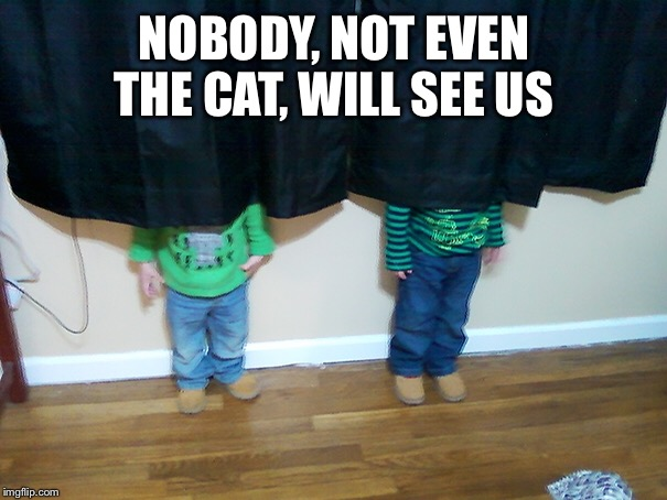 NOBODY, NOT EVEN THE CAT, WILL SEE US | made w/ Imgflip meme maker