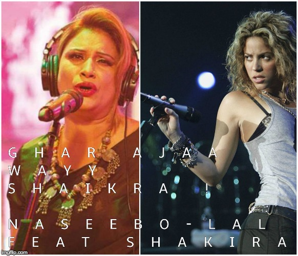 Desi Collab | image tagged in shakira desi,bollywood,shake it off,collage,hollywood | made w/ Imgflip meme maker