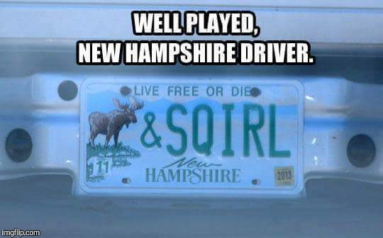 image tagged in new hampshire license plate | made w/ Imgflip meme maker