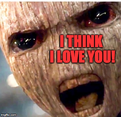 This is a translation, of course. | I THINK I LOVE YOU! | image tagged in memes,love,i am groot | made w/ Imgflip meme maker