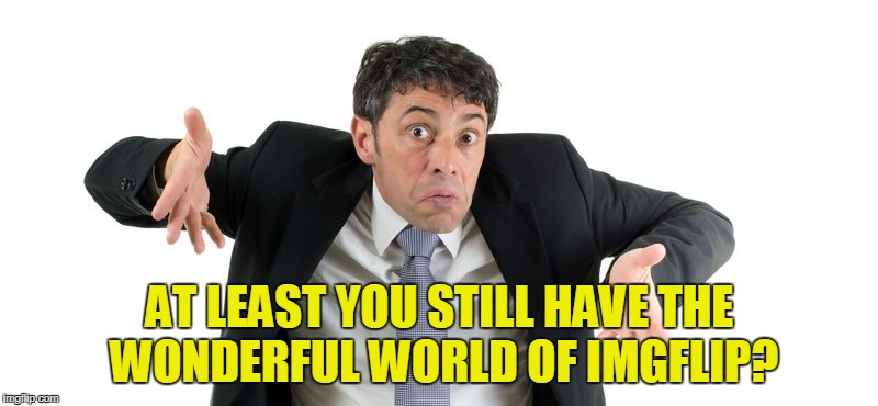AT LEAST YOU STILL HAVE THE WONDERFUL WORLD OF IMGFLIP? | made w/ Imgflip meme maker