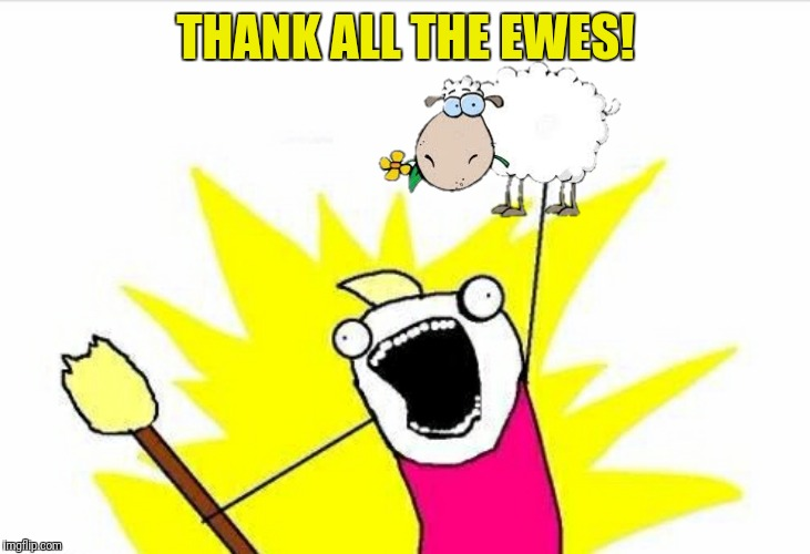 THANK ALL THE EWES! | made w/ Imgflip meme maker