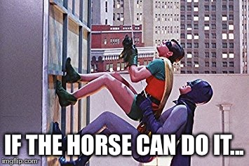 IF THE HORSE CAN DO IT... | made w/ Imgflip meme maker