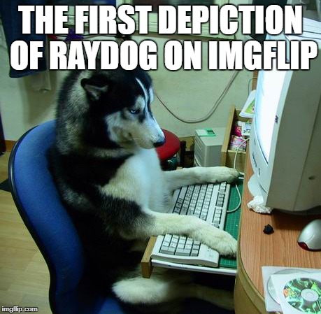 I Have No Idea What I Am Doing Meme | THE FIRST DEPICTION OF RAYDOG ON IMGFLIP | image tagged in memes,i have no idea what i am doing | made w/ Imgflip meme maker