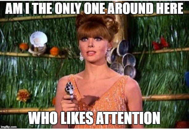 What Really Went Down on Gilligan's Island! (The Untold Story) March 5-12 A DrSarcasm Event! | AM I THE ONLY ONE AROUND HERE WHO LIKES ATTENTION | image tagged in ginger | made w/ Imgflip meme maker