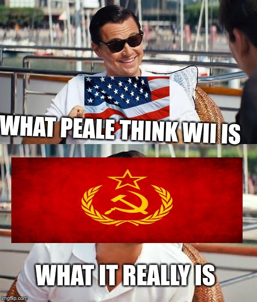 Leonardo Dicaprio Wolf Of Wall Street Meme | WHAT PEALE THINK WII IS WHAT IT REALLY IS | image tagged in memes,leonardo dicaprio wolf of wall street | made w/ Imgflip meme maker