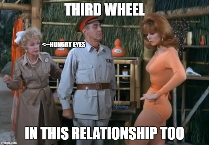 ginger | THIRD WHEEL IN THIS RELATIONSHIP TOO <--HUNGRY EYES | image tagged in ginger | made w/ Imgflip meme maker
