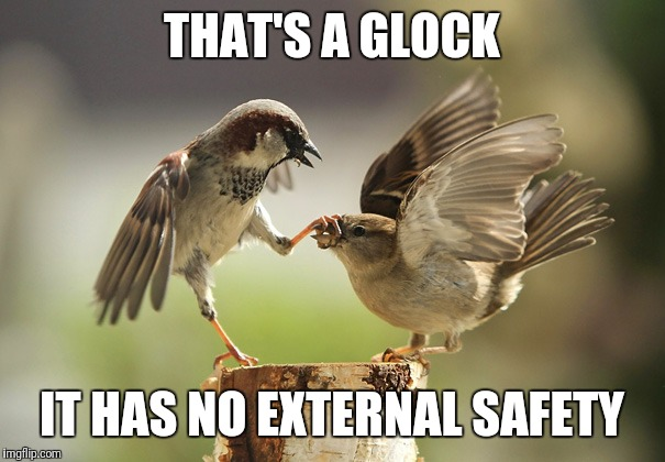 No more tweeting | THAT'S A GLOCK IT HAS NO EXTERNAL SAFETY | image tagged in no more tweeting | made w/ Imgflip meme maker