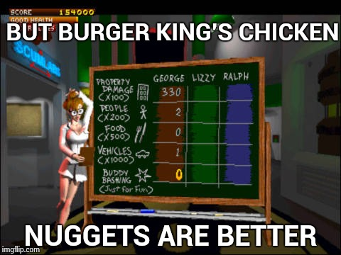 Doctor Betty Veronica | BUT BURGER KING'S CHICKEN NUGGETS ARE BETTER | image tagged in doctor betty veronica | made w/ Imgflip meme maker