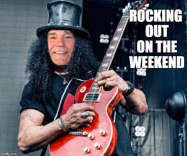 rocker coollew | ROCKING OUT ON THE WEEKEND | image tagged in rocker coollew | made w/ Imgflip meme maker