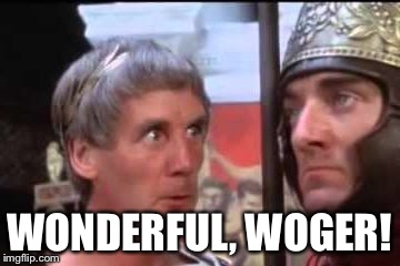 Welease Woger | WONDERFUL, WOGER! | image tagged in welease woger | made w/ Imgflip meme maker