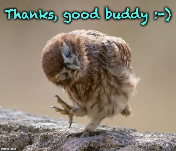 Thanks, good buddy :-) | made w/ Imgflip meme maker