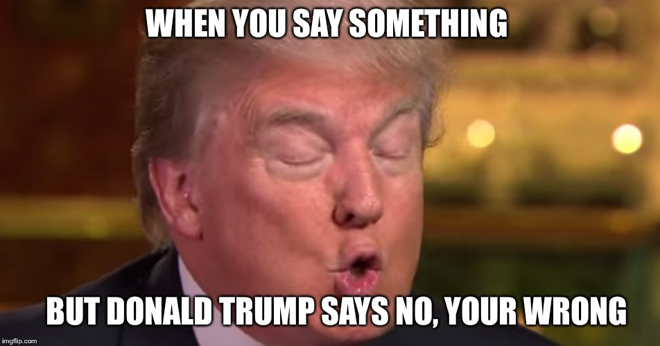 "Trump ""wrong"" meme 