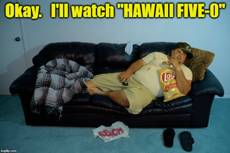 "Okay.   I'll watch ""HAWAII FIVE-0"" 