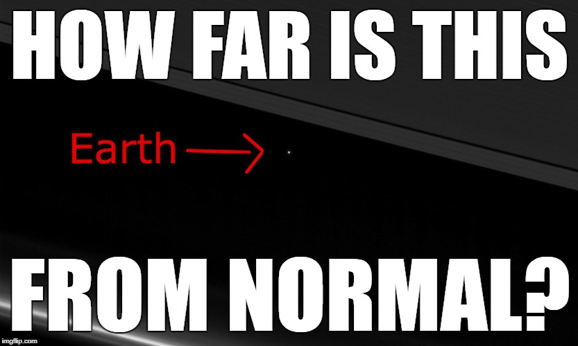 HOW FAR IS THIS FROM NORMAL? | image tagged in normal | made w/ Imgflip meme maker