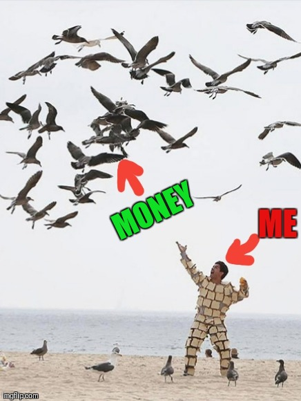 Trying to attrack some money into my life | MONEY ME | image tagged in money,no money,broke,toast,beach,what the fuck | made w/ Imgflip meme maker