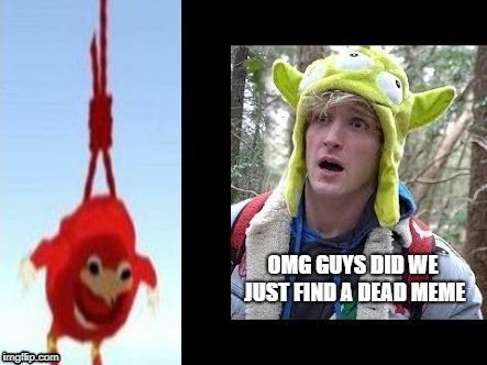 image tagged in ugandan knuckles,logan paul | made w/ Imgflip meme maker