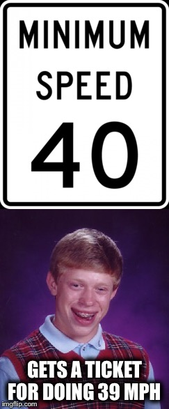 GETS A TICKET FOR DOING 39 MPH | made w/ Imgflip meme maker