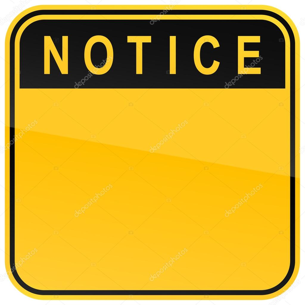 notice sign blank template imgflip