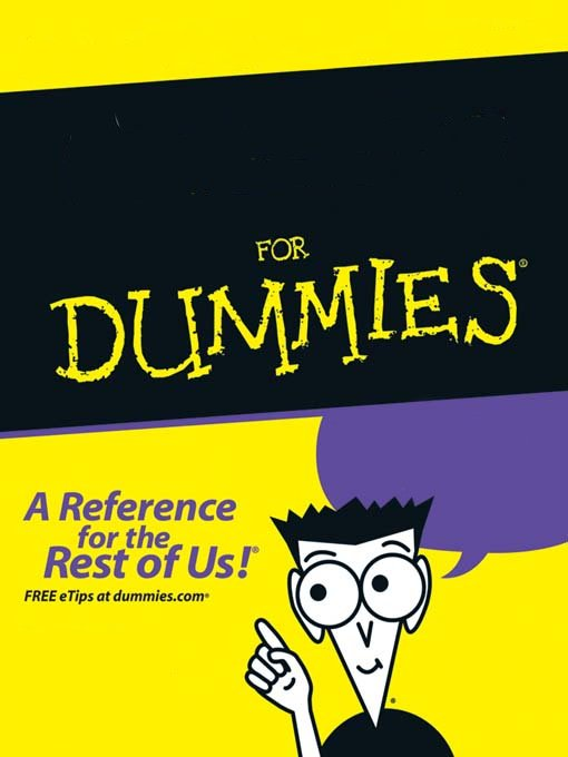 for dummies book blank template imgflip