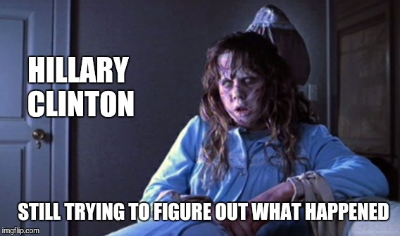 After Election Loss.. Mrs. Clinton Ponders... | HILLARY CLINTON STILL TRYING TO FIGURE OUT WHAT HAPPENED | image tagged in memes,funny,gifs,hillary clinton | made w/ Imgflip meme maker