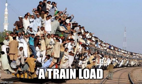 A TRAIN LOAD | made w/ Imgflip meme maker