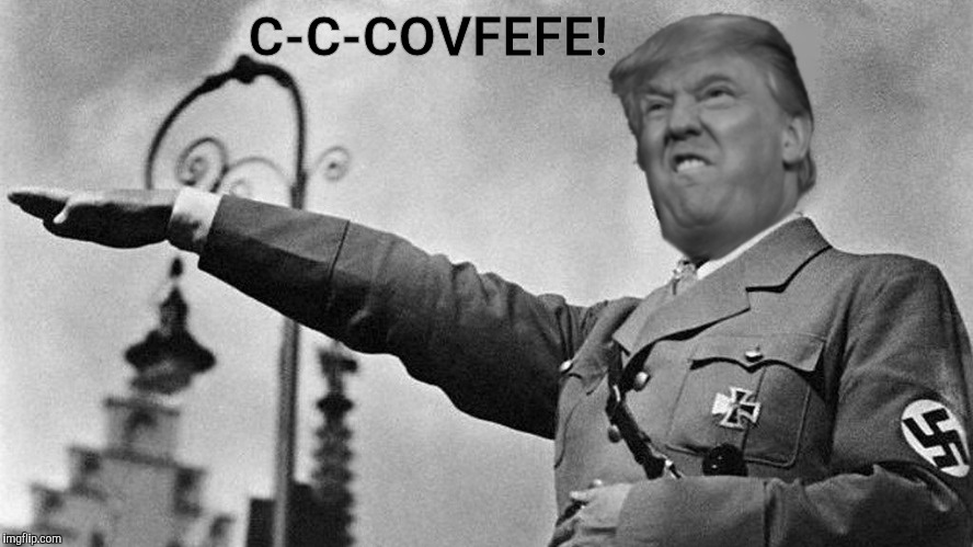 Donald Trump Hitler | C-C-COVFEFE! | image tagged in donald trump hitler | made w/ Imgflip meme maker