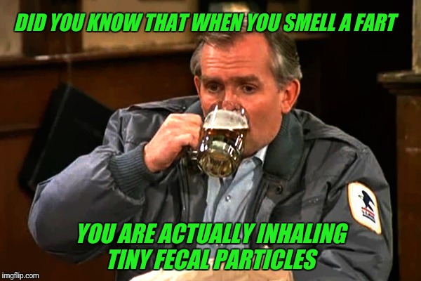 In a Boston accent... | DID YOU KNOW THAT WHEN YOU SMELL A FART YOU ARE ACTUALLY INHALING TINY FECAL PARTICLES | image tagged in cliff clavin,chowder,boston,cheers,fart | made w/ Imgflip meme maker