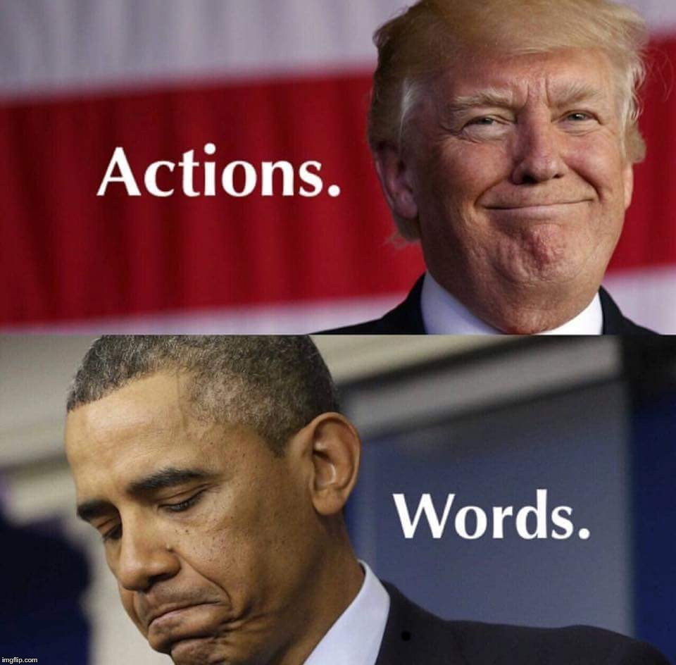 Trump vs Nobama | . | image tagged in trump is actionobama just words | made w/ Imgflip meme maker
