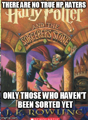 THERE ARE NO TRUE HP HATERS ONLY THOSE WHO HAVEN'T BEEN SORTED YET | made w/ Imgflip meme maker