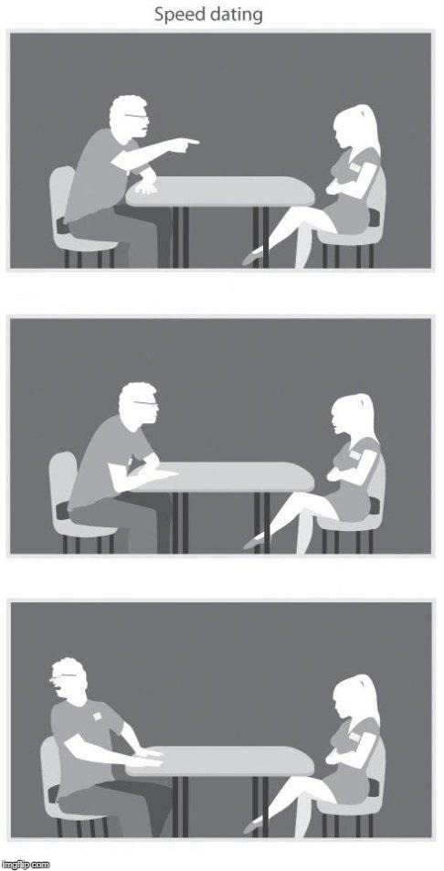 Speed dating | image tagged in speed dating | made w/ Imgflip meme maker