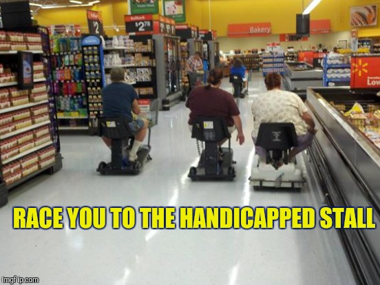 RACE YOU TO THE HANDICAPPED STALL | made w/ Imgflip meme maker
