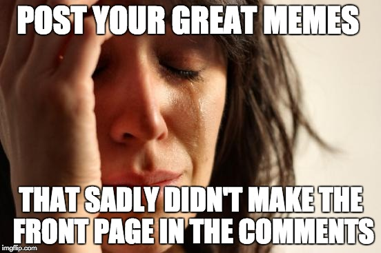 First World Problems Meme | POST YOUR GREAT MEMES THAT SADLY DIDN'T MAKE THE FRONT PAGE IN THE COMMENTS | image tagged in memes,first world problems | made w/ Imgflip meme maker