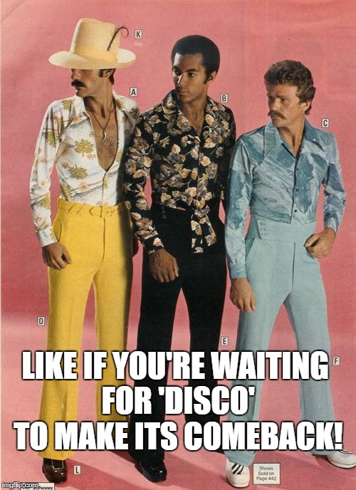 Disco for life! | LIKE IF YOU'RE WAITING FOR 'DISCO' TO MAKE ITS COMEBACK! | image tagged in disco,1970's,beer,football,puppies and kittens | made w/ Imgflip meme maker
