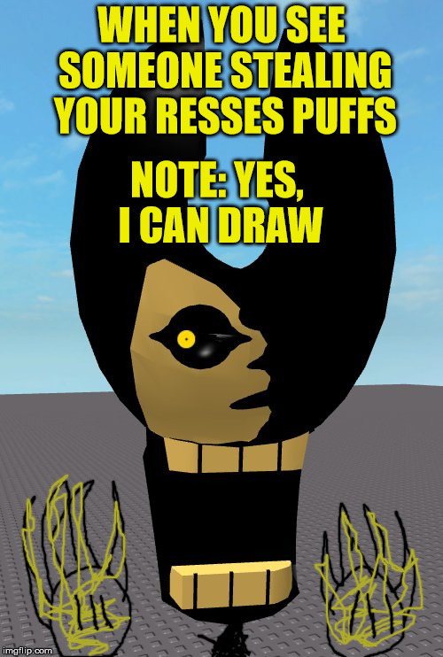 Yellow Eye Stare | WHEN YOU SEE SOMEONE STEALING YOUR RESSES PUFFS NOTE: YES, I CAN DRAW | image tagged in memes,funny,resses puffs,drawing | made w/ Imgflip meme maker