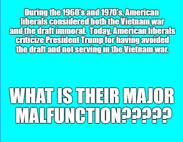 Liberal Major Malfunction | image tagged in liberal hypocrisy | made w/ Imgflip meme maker