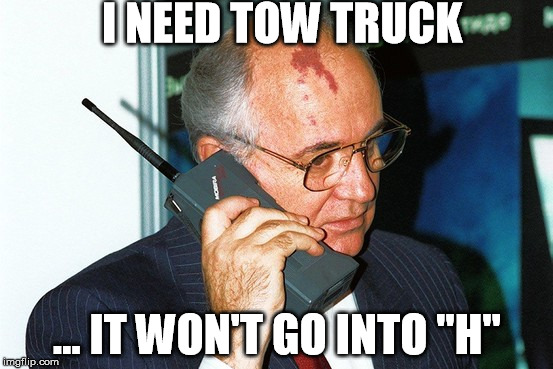 "Put it in H | I NEED TOW TRUCK ... IT WON'T GO INTO ""H"" 